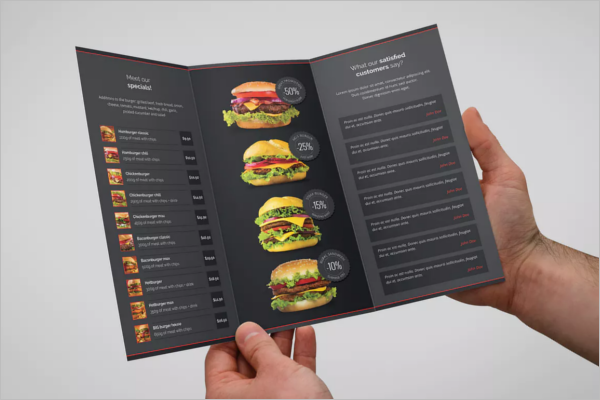 Burger Menu Card Template