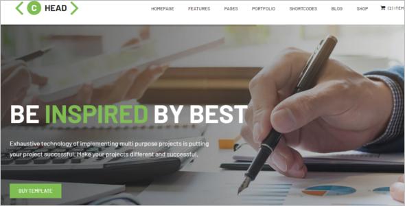 Business Blog Design Template