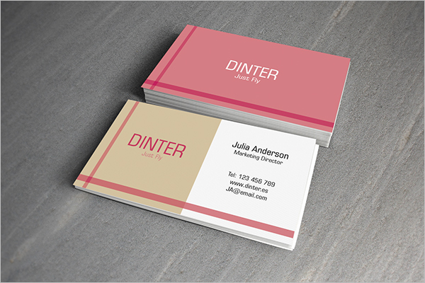 Business Card Design Example