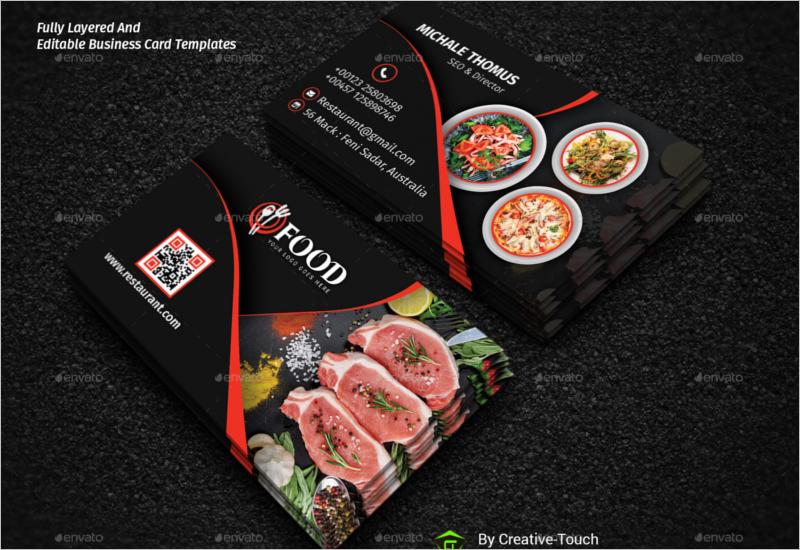 Business Card Template For Restaurent