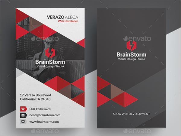 Business Card Vertical Design Template
