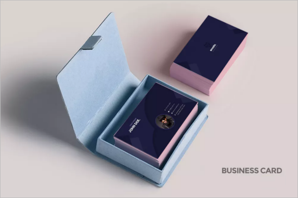 Business Card With Box Design