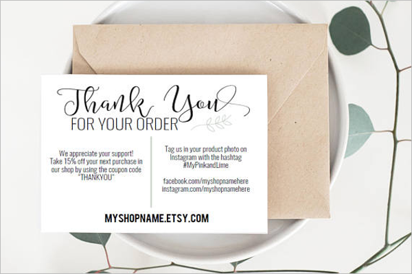 27 Business Thank You Card Templates Free Word Example Ideas