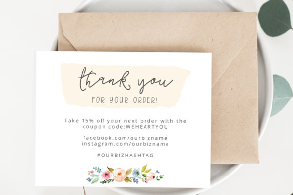 Business Thank You Card PDF Template  Business Thank You Card Template