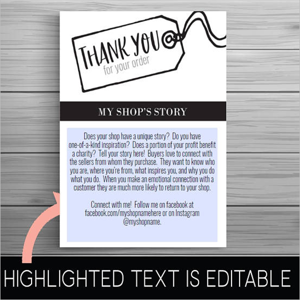 Business Thank You Card Template Word