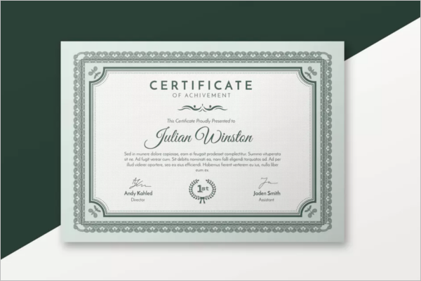 Business Word Certificate Template