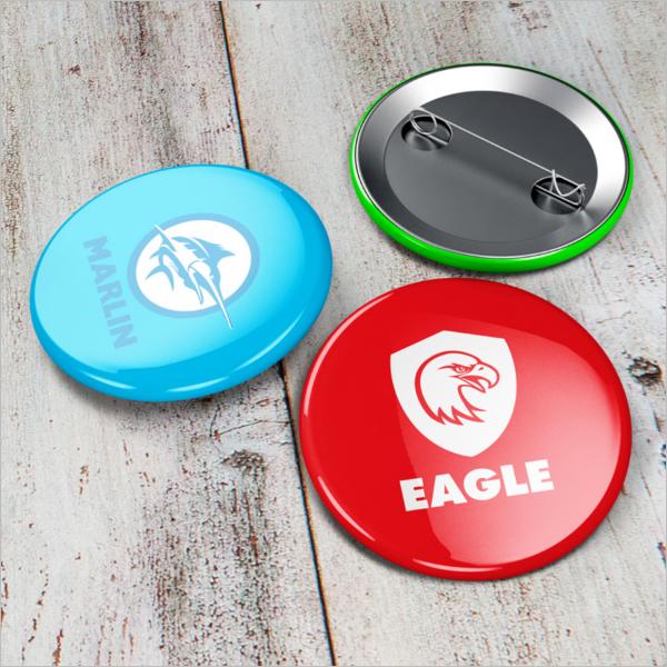 Button Badge Mockup Free Design