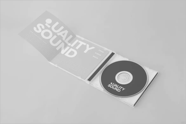 CD Cover Mockup Sample Design
