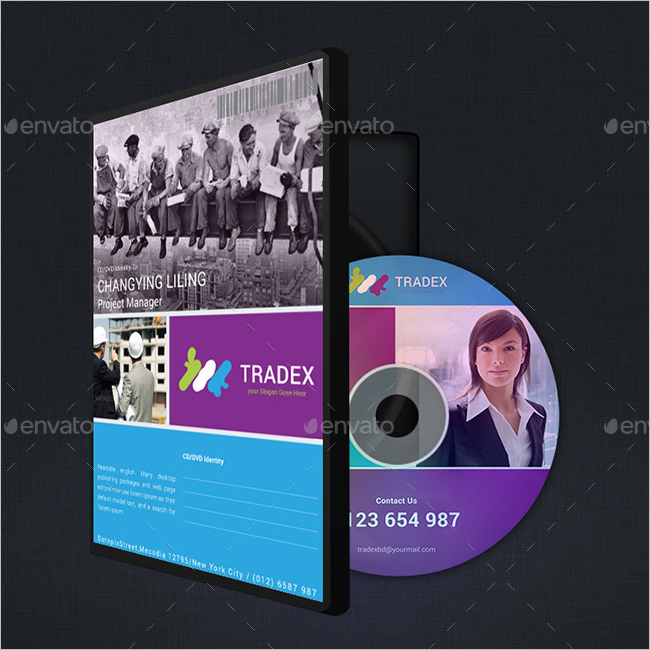 CD & DVD Cover Mockup Design