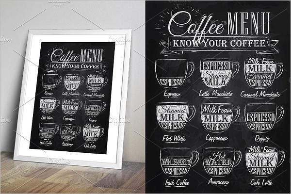 Cafe Chalkboard Menu Design