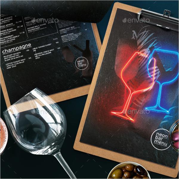 Cafe Cocktail Drinks Menu Design
