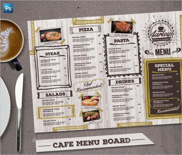 Cafe Menu Board Design