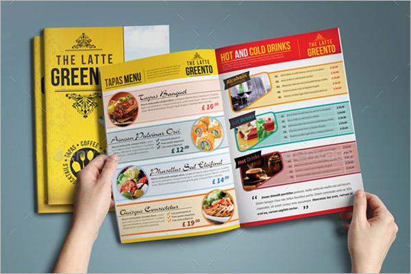 Cafe Menu Booklet Design