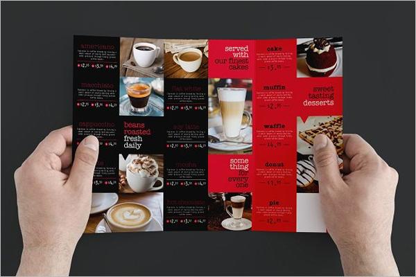 Cafe Menu Card Design