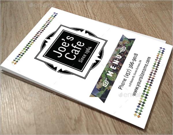 Cafe Menu Design PSD