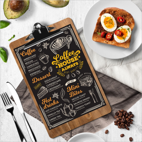 Cafe Role Play Menu Template
