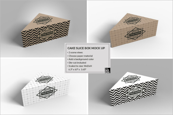 Cake Slice Packaging Mockup Set