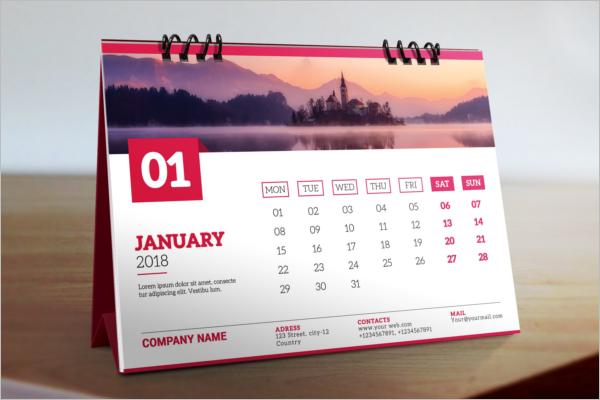 Desk Calendar Mockup Template