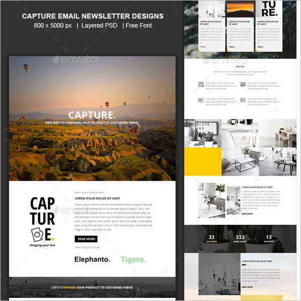Capture Email Newsletter Design