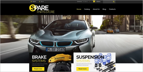 Car Spare Parts VirtueMart Template