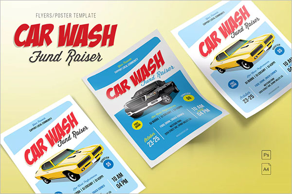 Car Wash Fund Raiser Flyer Template