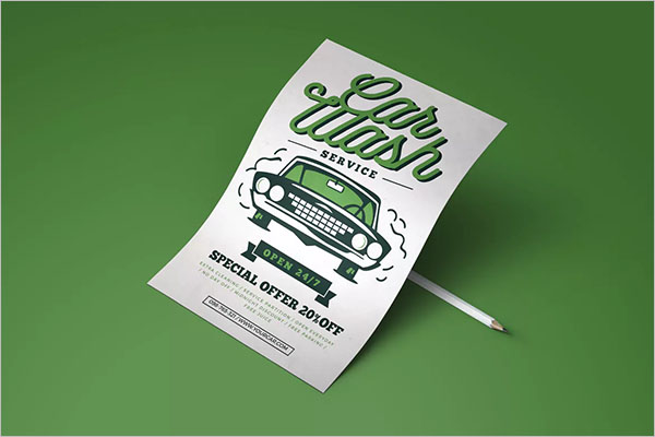 Car Wash Services Flyer Template