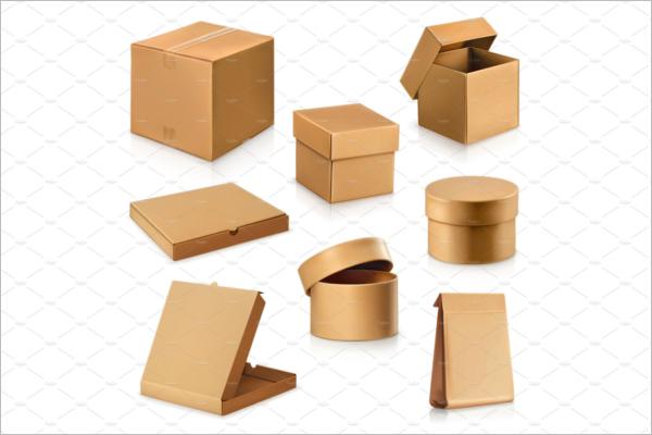 Cardboard boxes Mockup Design