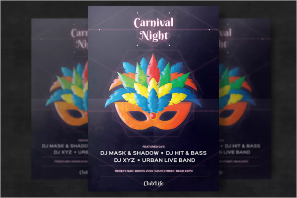 Carnival Night Flyer Template Template
