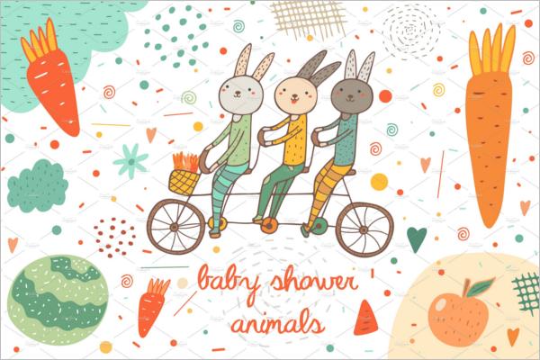 Cartoon Baby Shower Banner Design
