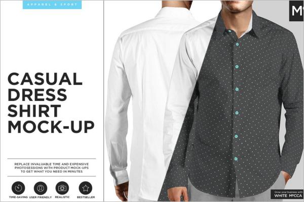 Casual Shirt Mockup Template