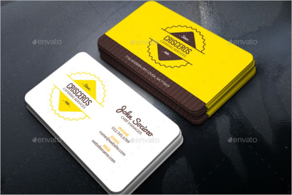 Catering Business Card Design