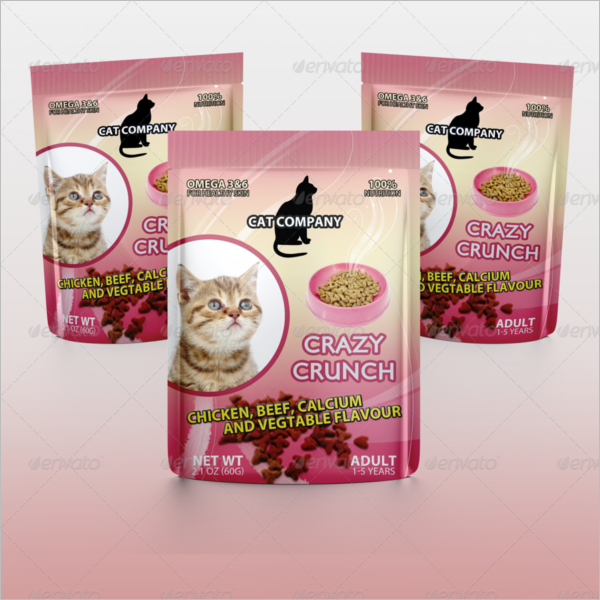 Cats Food Packaging Mockup