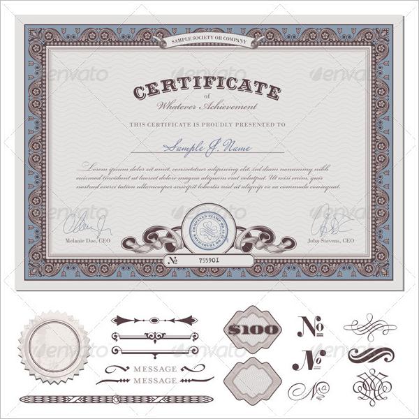 CertificateBorder Design Template