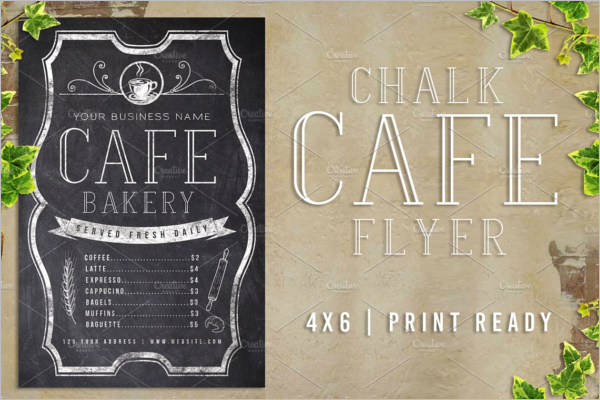 Chalk Cafe Flyer Menu