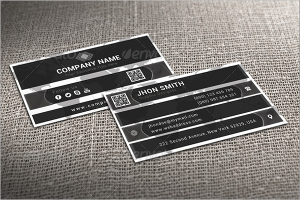 Cheap Black & White Business Card