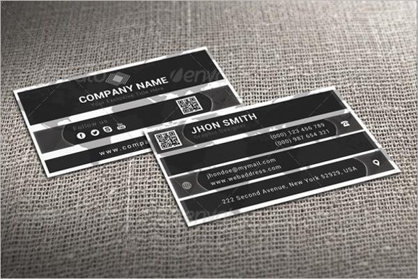 Cheap Black & White Business Card