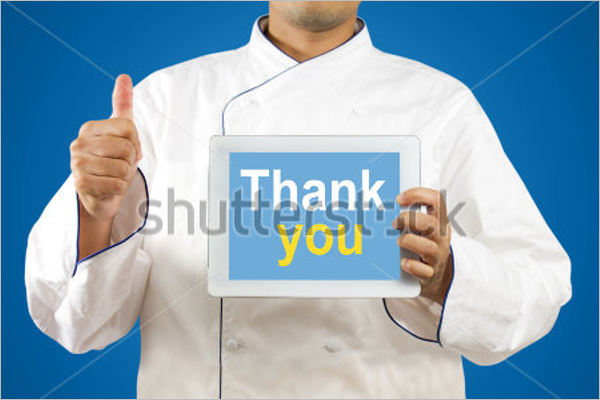 Chef Thank You Card Template