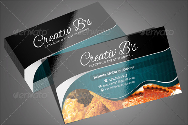 Chef's Catering Business Card Template