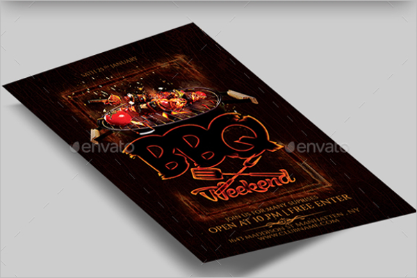 Chicken BBQ Flyer Template