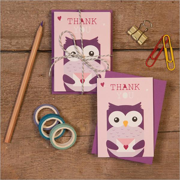 Children's Thank You Card Design