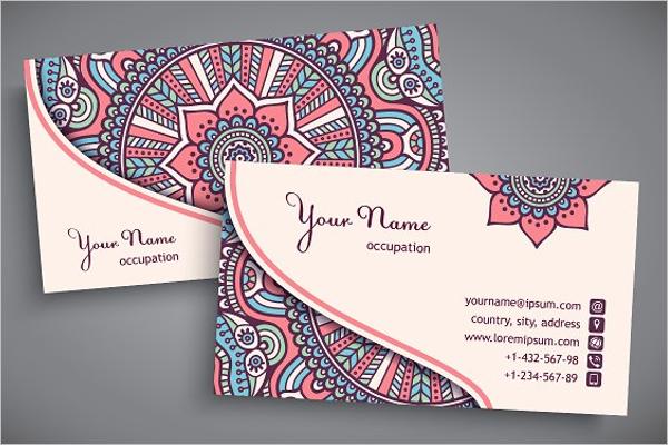Children's Yoga Business Card Design
