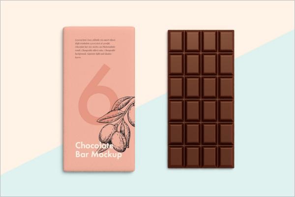 Chocolate Bar Mockup Download