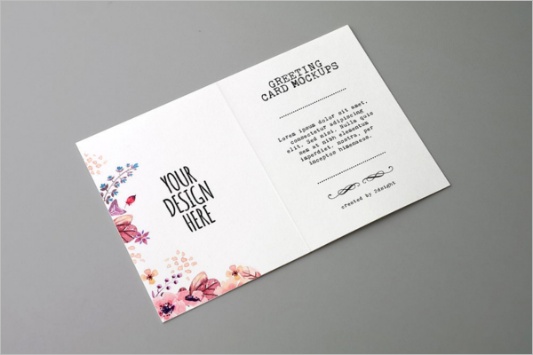 Christmas Card Mockup PSD Design