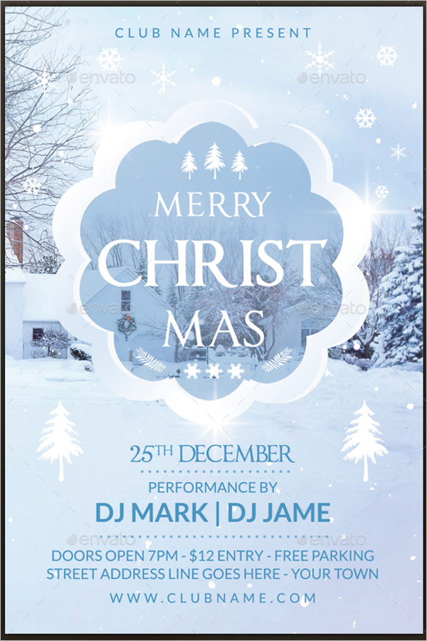 Christmas Event Flyer Template Bundle