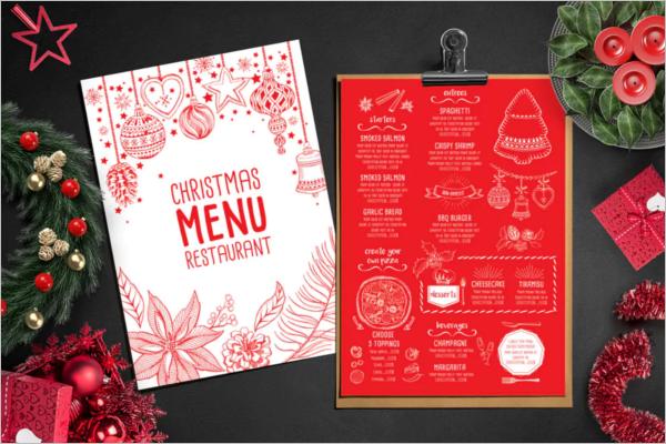 Christmas Menu Template For Restaurant