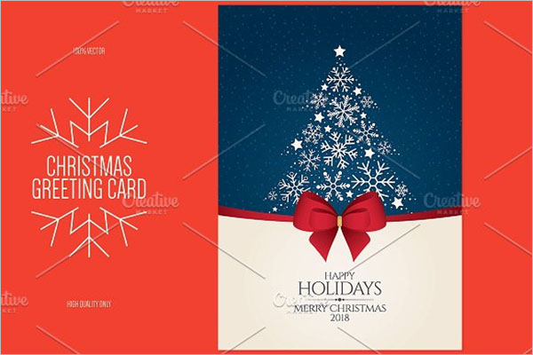 Christmas & New Year greeting card Brochure