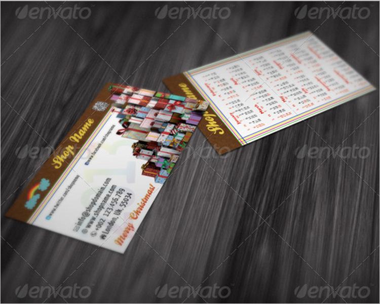 Christmas Shop Business Card Template
