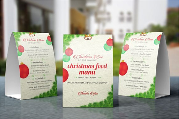 Christmas Table Tent Mockup Design
