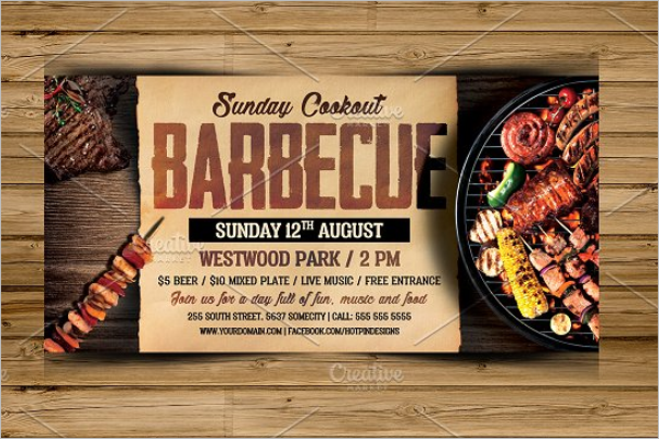 Church BBQ Flyer Template