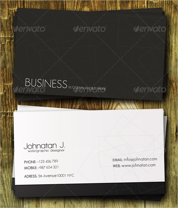 Classy Black & White Business Card Template